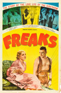 "Movie Posters:Horror, Freaks (Excelsior, R-1949). One Sheet (27"" X 41"").. ..."