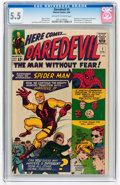 Silver Age (1956-1969):Superhero, Daredevil #1 (Marvel, 1964) CGC FN- 5.5 Off-white to white pages....