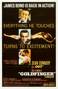 "Goldfinger (United Artists, 1964). One Sheet (27"" X 41"") Glossy Style"