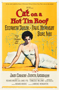 "Movie Posters:Drama, Cat on a Hot Tin Roof (MGM, 1958). One Sheet (27"" X 41"").. ..."