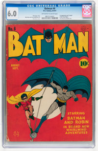 Batman #6 (DC, 1941) CGC FN 6.0 Off-white to white pages