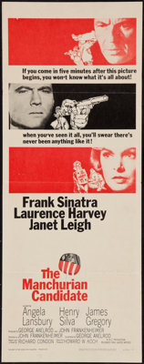 "The Manchurian Candidate (United Artists, 1962). Insert (14"" X 36""). Thriller"