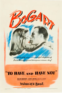 """To Have and Have Not (Warner Brothers, 1944). One Sheet (27"""" X 41"""")"""
