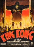"Movie Posters:Horror, King Kong (RKO, 1933). French Grande (46"" X 62.75"") Style A.. ..."