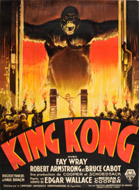 "King Kong (RKO, 1933). French Grande (46"" X 62.75"") Style A"