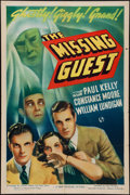 "Movie Posters:Mystery, The Missing Guest (Universal, 1938). One Sheet (27"" X 41"").Mystery.. ..."