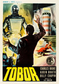"Movie Posters:Science Fiction, Tobor the Great (Republic, 1954). Italian 2 - Foglio (39"" X 55"").From the collection of Wade Williams.. ..."