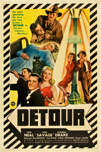 "Detour (PRC, 1945). One Sheet (27"" X 41""). From the collection of Wade Williams"