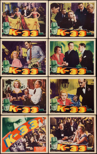 "Cafe Colette (Producers Inc., 1941). Lobby Card Set of 8 (11"" X 14"") Also known as K-33. Thriller. ... (Total:..."
