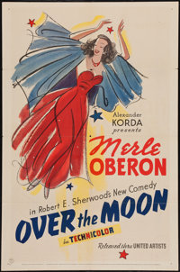 """Over the Moon (United Artists, 1939). One Sheet (27"""" X 41""""). Comedy"""