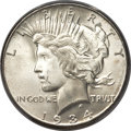Peace Dollars, 1934-S $1 MS65+ PCGS Secure. CAC....