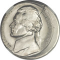 Errors, 1949-S 5C Jefferson Nickel -- Struck 10% Off Center -- MS66 Five Full Steps NGC....