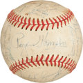 Autographs:Baseballs, 1952 Chicago Cubs & St. Louis Browns Signed Baseball, PSA/DNAEX+ 5.5....