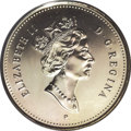 Canada: , Canada: Elizabeth II 50 Cents 2000 P, KM290b, MS66 PCGS. Fully brilliant with prooflike surfaces. An extremely rare issue that was n...