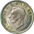 Canada: George VI Dollar 1938, KM37, MS64 ICCS, a premium example with nicer surfaces than expected and full mint bloom...