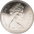 Canada: , Canada: Elizabeth II Dollar 1966 Small Beads, KM64.1, Prooflike 65 PCGS. Well struck with mirrored fields and a nice cameo appearanc...