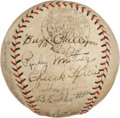 Autographs:Baseballs, 1930 Philadelphia Phillies Partial Team Signed Baseball with ChuckKlein....