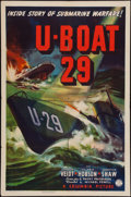 "Movie Posters:War, U-Boat 29 (Columbia, 1939). One Sheet (27"" X 41""). War.. ..."