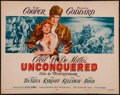 "Movie Posters:Adventure, Unconquered (Paramount, R-1955). Half Sheet (22"" X 28"").Adventure.. ..."