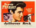 "Movie Posters:Elvis Presley, Jailhouse Rock (MGM, 1957). Half Sheet (22"" X 28"") Style B.. ..."
