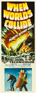 "Movie Posters:Science Fiction, When Worlds Collide (Paramount, 1951). Insert (14"" X 36"").. ..."