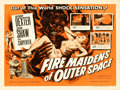 "Movie Posters:Science Fiction, Fire Maidens of Outer Space (Topaz, 1956). Half Sheet (22"" X 28"").From the collection of Wade Williams.. ..."