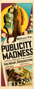 "Movie Posters:Comedy, Publicity Madness (Fox, 1927). Insert (14"" X 36"").. ..."