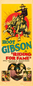 "Movie Posters:Western, Riding for Fame (Universal, 1928). Insert (14"" X 36"").. ..."