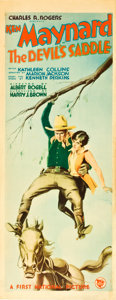 """Movie Posters:Western, The Devil's Saddle (First National, 1927). Insert (14"""" X 36"""").. ..."""
