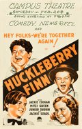 "Movie Posters:Comedy, Huckleberry Finn (Paramount, 1931). Window Card (14"" X 22"").. ..."