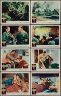 """Movie Posters:War, The Naked and The Dead (RKO, 1958). Lobby Card Set of 8 (11"""" X14""""). War.. ... (Total: 8 Items)"""