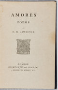 Books:Literature 1900-up, D. H. Lawrence. Amores. Duckworth, [n.d., ca. 1916]. First edition, second issue (no ads). Some rubbing, soiling and...