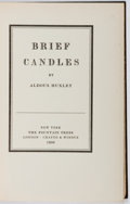 Books:Literature 1900-up, Aldous Huxley. SIGNED LIMITED EDITION. Brief Candles.Fountain Press, 1930. First American edition, one of 842 cop...