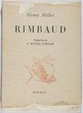 Books:Biography & Memoir, Henry Miller. INSCRIBED. Rimbaud. Mermod, 1952. First Frenchedition. Inscribed by Miller to noted book collec...