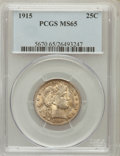 Barber Quarters: , 1915 25C MS65 PCGS. PCGS Population (83/16). NGC Census: (55/10).Mintage: 3,480,450. Numismedia Wsl. Price for problem fre...