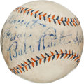 Autographs:Baseballs, 1937 Babe Ruth Single Signed Baseball....