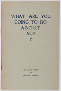 Books:Literature 1900-up, [Henry Miller]. INSCRIBED BY HENRY MILLER. What Are You Going toDo About Alf? [privately published, 1938]. Second e...