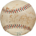 Autographs:Baseballs, Early 1930's Babe Ruth Single Signed Baseball....