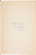 Golf Collectibles:Autographs, 1957 Walter Hagen Signed Book....