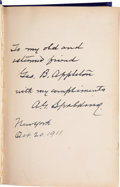 "Autographs:Others, 1911 Albert Spalding Signed ""America's National Game""Book...."