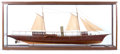 Maritime:Decorative Art, SCALE MODEL OF THE VICTORIAN STEAM YACHT 'SAY WHEN'. AmericanMarine and Ship Model Gallery, Salem MA. A handsome and high-q...