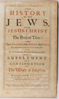 Books:Religion & Theology, [Jacques] Basnage. The History of the Jews... J. Beaver, etal., 1708. First edition in English of Basnage's continu...