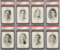 Baseball Cards:Lots, 1906 Fan Craze N.L. Baseball PSA Graded Collection (8). ...