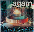 Books:Art & Architecture, [Yaacov Agam, subject] INSCRIBED WITH A RAINBOW DRAWING BY AGAM. Frank Popper. Agam. Abrams, 1990. Third revised edi...