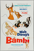 "Movie Posters:Animation, Bambi (Buena Vista, R-1975). One Sheet (27"" X 41"") Style A.Animation.. ..."