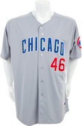 Baseball Collectibles:Uniforms, 2011 Ryan Dempster Game Worn Chicago Cubs Jersey....