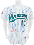 Baseball Collectibles:Uniforms, 1996 Gary Sheffield All-Star Game Worn Florida Marlins Jersey, TeamSigned....