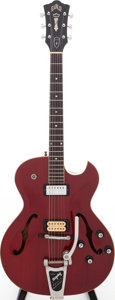 Musical Instruments:Electric Guitars, 1966 Guild Starfire II Cherry Semi-Hollow Body Electric Guitar, Serial # EK764. ...