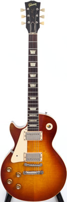 1960 Gibson Les Paul Standard Sunburst Left Handed Solid Body Electric Guitar, Serial # 0 1475