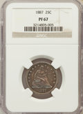 Proof Seated Quarters: , 1887 25C PR67 NGC. NGC Census: (11/4). PCGS Population (3/0).Mintage: 710. Numismedia Wsl. Price for problem free NGC/PCGS...